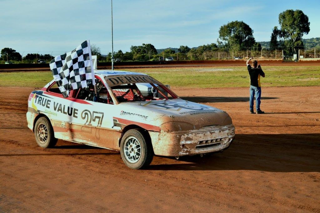 Jackson Derrick after claiming a feature win at Ellenbrook